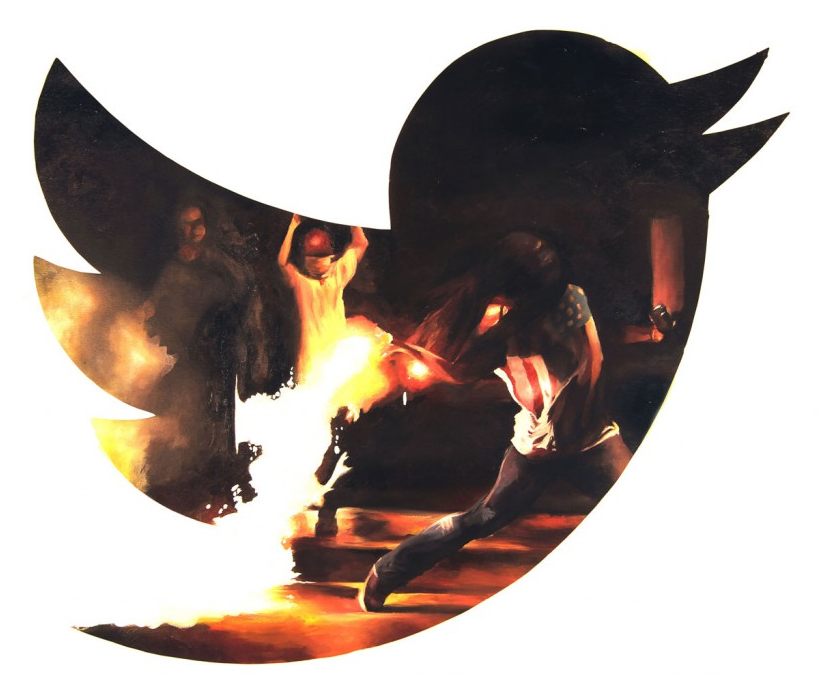 """the-revolution-will-be-tweeted,"" by Thomas Evans.  ©  All Rights Reserved."