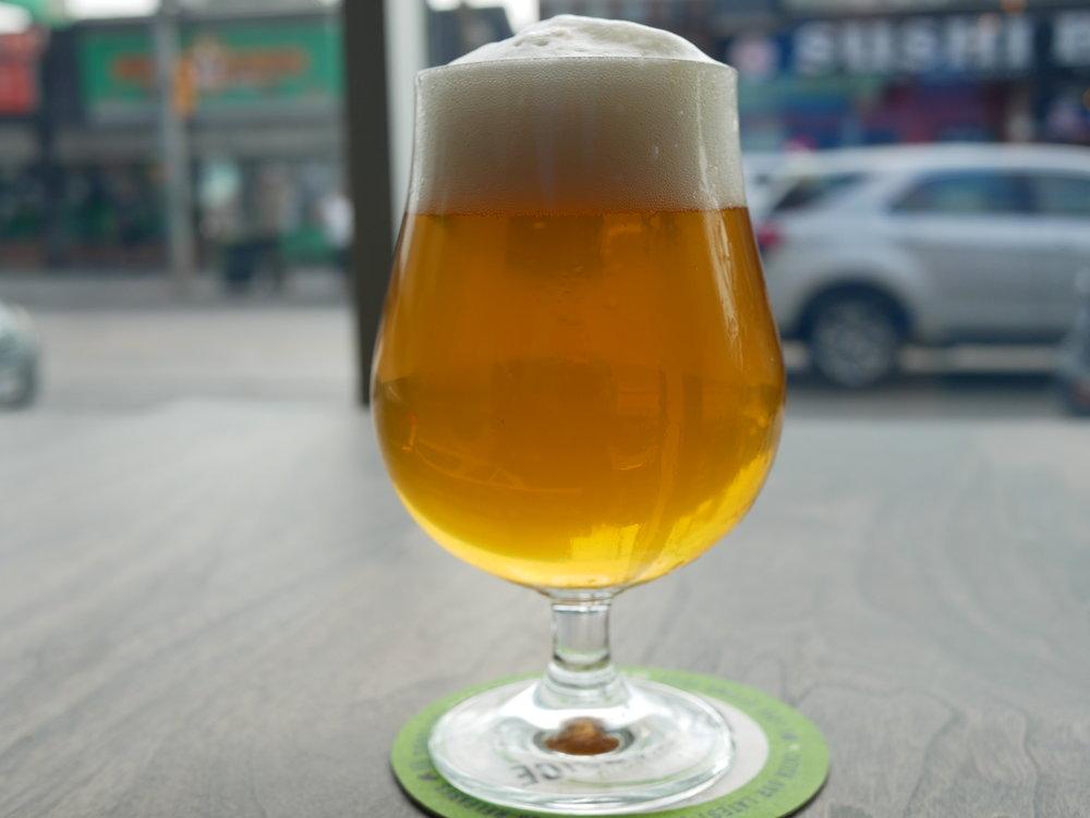 Copy of Basecamp Saison glass of beer