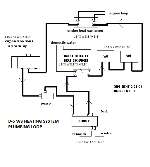 D-5 WS Heating System Plumbing Loop