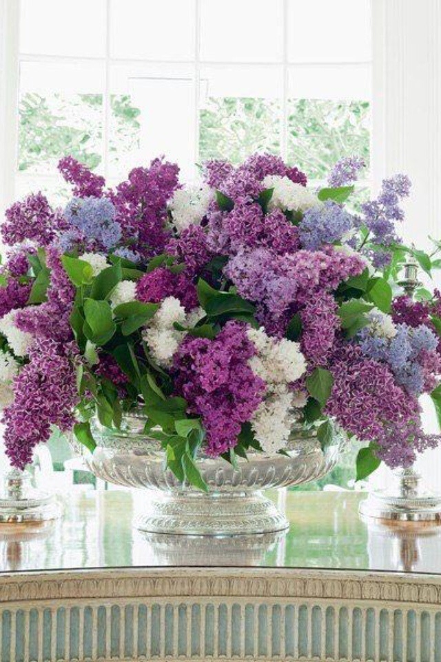 Purple Floral Wedding Centerpiece