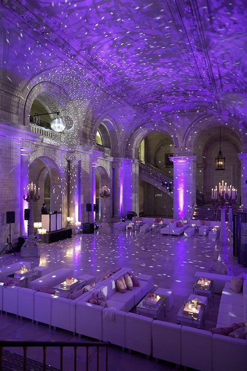 Ultra Violet Wedding Reception Uplighting