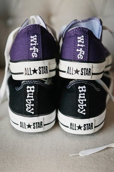 Purple & Black, Hubby & Wife Converse