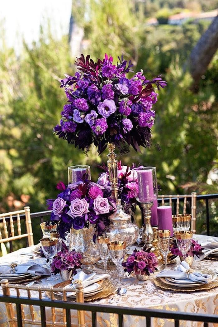 Vibrant Purple Centerpiece
