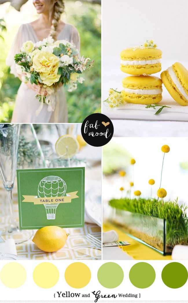 Yellow & Green Wedding Theme