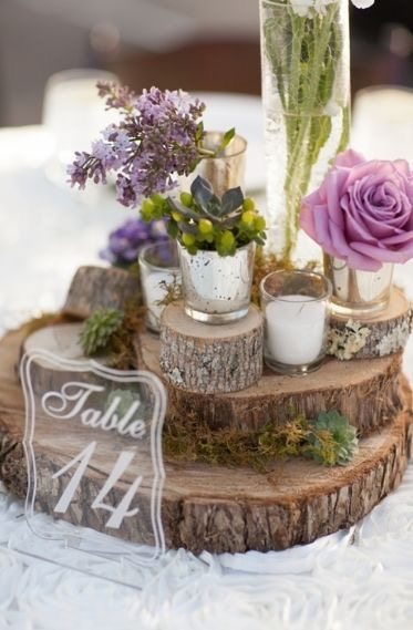Rustic Purple Centerpiece