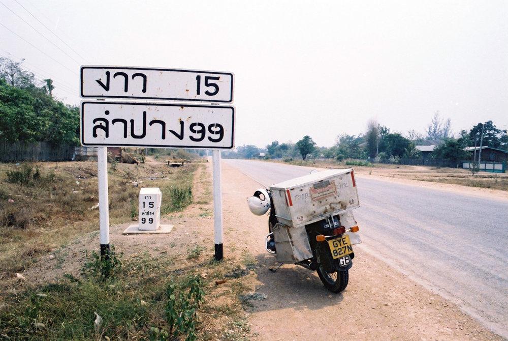 Elsbeth's bike in Thailand. Image by Elsbeth Beard