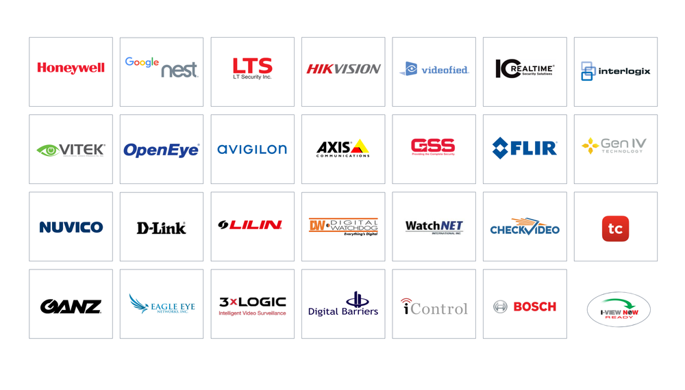 Video Integrations - I-View Now is integrated and partnered with the leading video devices and services. An integration with I-View Now connects video products to all nine (9) of the leading monitoring platforms serving North America. All of our integrations meet or exceed The Monitoring Association's ANSI/CS-V-01 standard for video verification. These integrations include video device health monitoring, video verification, and video guard tours. Video is a critical element in intelligent monitoring and I-View Now connects video to end users, monitoring centers, and first responders.