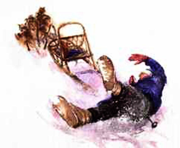 "Illustration from the award-winning book with Wintergreen stories ""Born to Pull"""