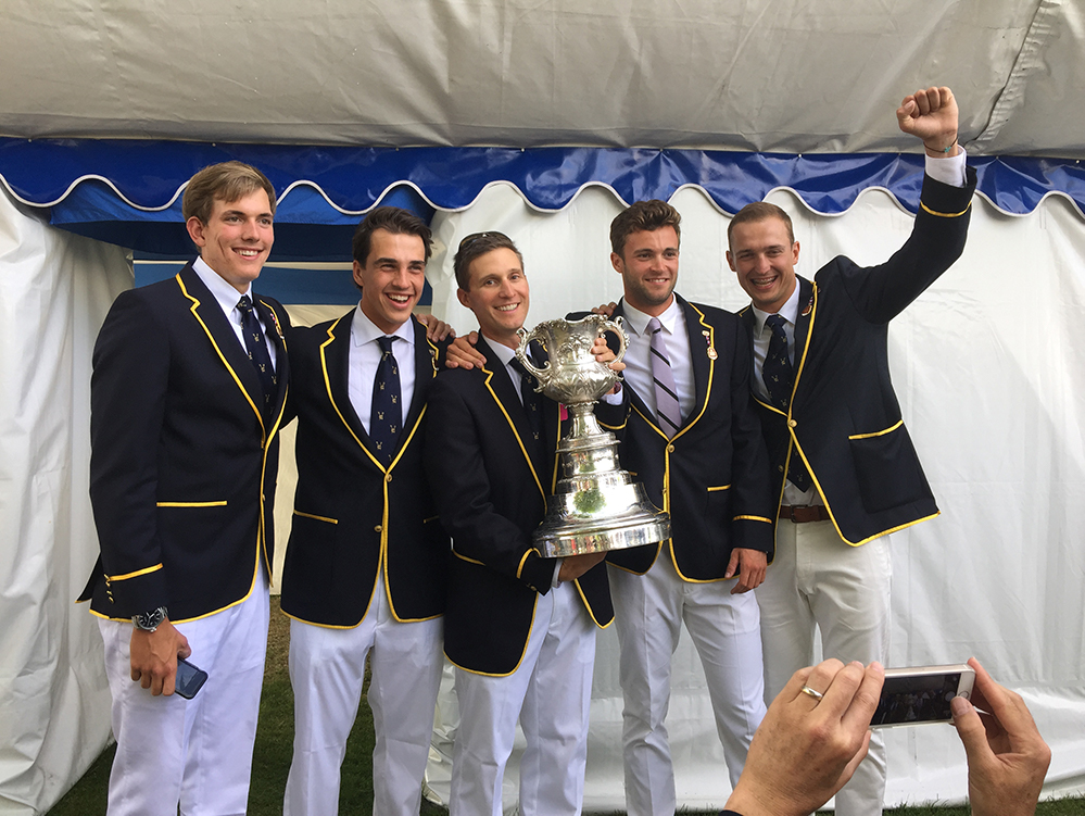 Henley Royal Regatta Visitors' Challenge Cup winners in 2015 with University of California, Berkeley