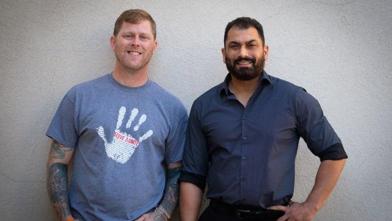 Arno Michaelis and Pardeep Singh Kaleka