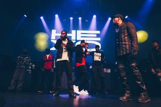 WuTang Clan performing at a concert sponsored by Hexo (cannabis brand).