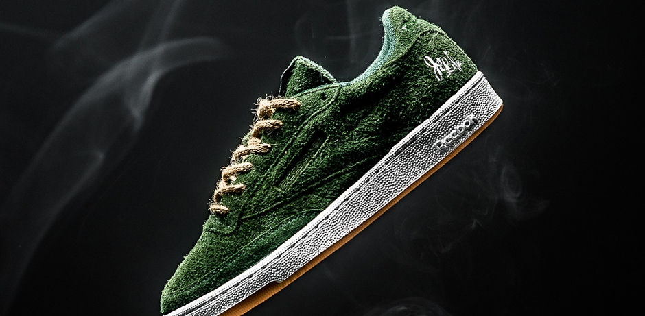 Cannabis-inspired shoe made by Curren$y and Reebok.