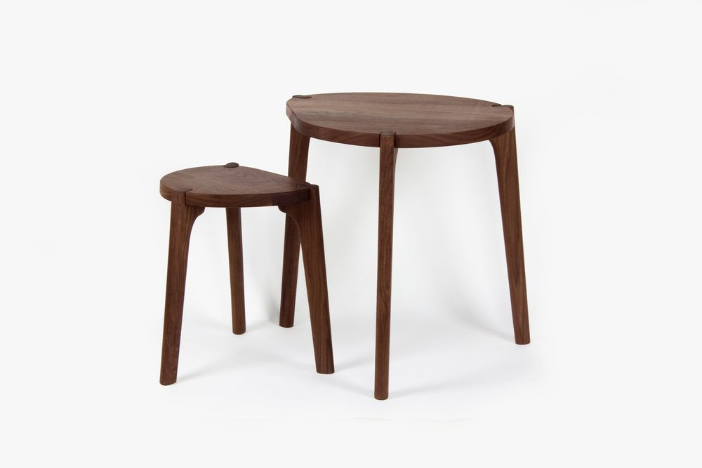 The Tangent Tables Are A Unique Furniture Expression. Merging The  Structural Apron With The Leg
