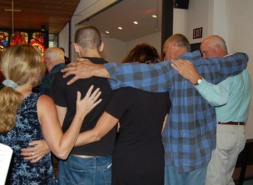 Group prayer Sanctuary.JPG