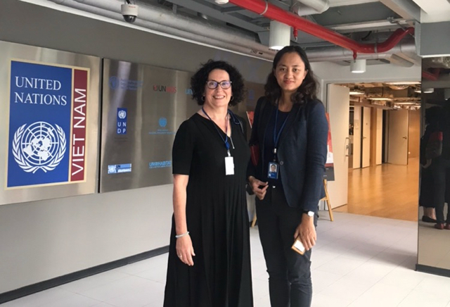 Team Leaders UNESCO Houng Thanh Huong Thi Pham and Dr Jane Gavan