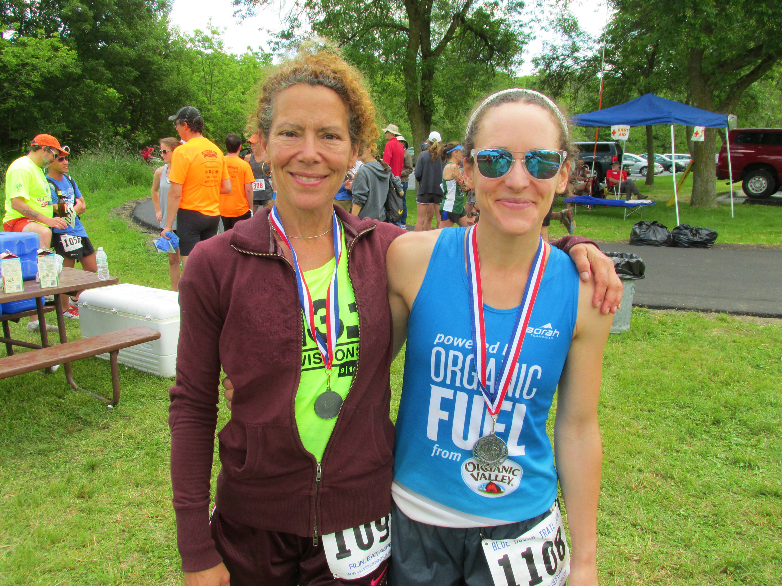 My mom ran the 20k too. She has been an inspiration for my running efforts - she ran a marathon when she was pregnant with me!
