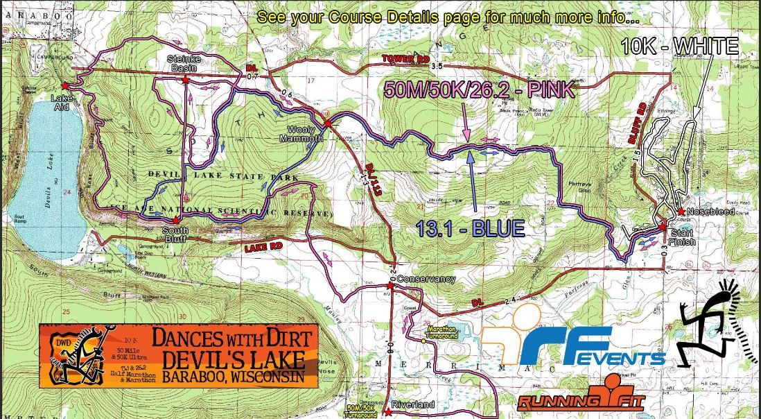 Dances with Dirt course map