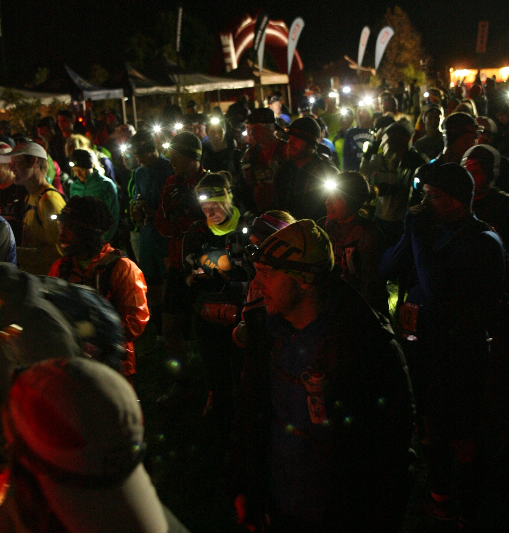 About to run in two hours of darkness at The North Face Endurance Challenge 50 mile