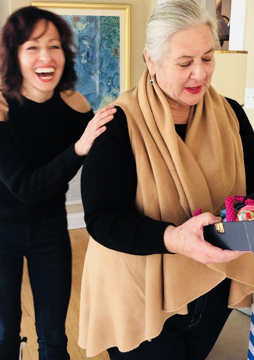Gloria Rose with friend & client Melissa Ichiuji• International Artist ( melissaichiuji.com ) 2018