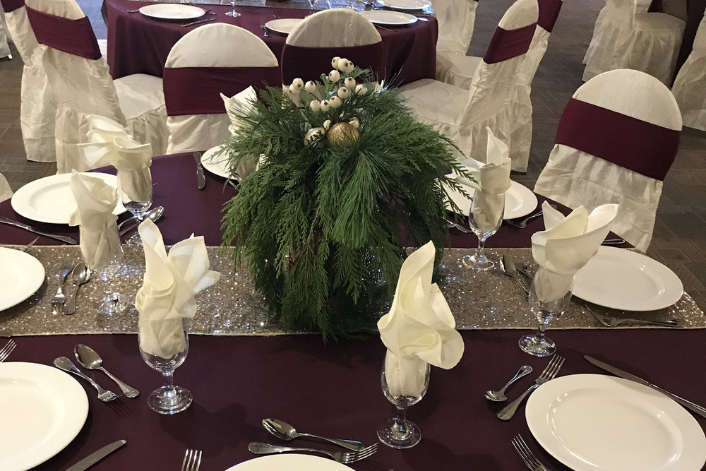 Corporate Events - Dazzle by Dawn can provide decor for many sales of corporate events from Christmas party to Employee Recognition or Retirement parties. We have you covered.View Gallery>