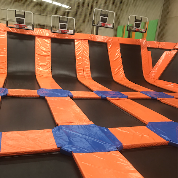Junior Jump Area, Basketball - A smaller free jump area of interconnected trampolines just for our junior jumpers aged from 18 months-11 years of age. Shoot some hoops and jump off the walls without the big kids getting in your way.