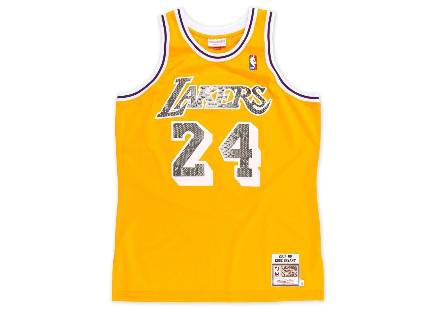 35f4df96d Mitchell   Ness Kobe Bryant 2007-2008 Los Angeles Lakers Python Jersey — F  R A 3