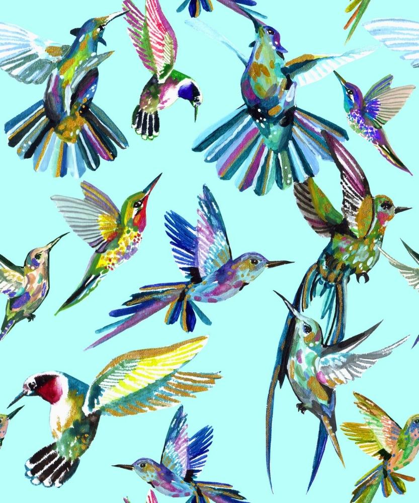 Seven birds in flight by Anca Pora
