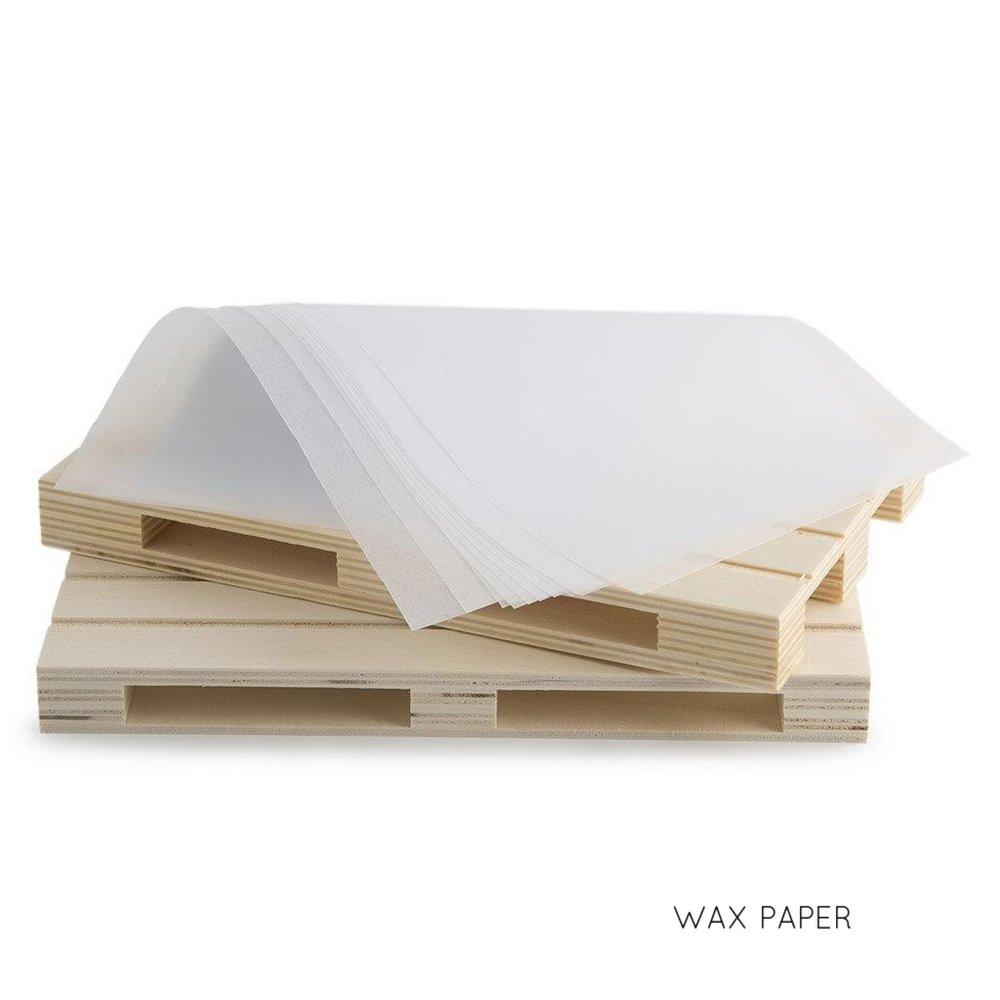 WHITE WAX PAPER