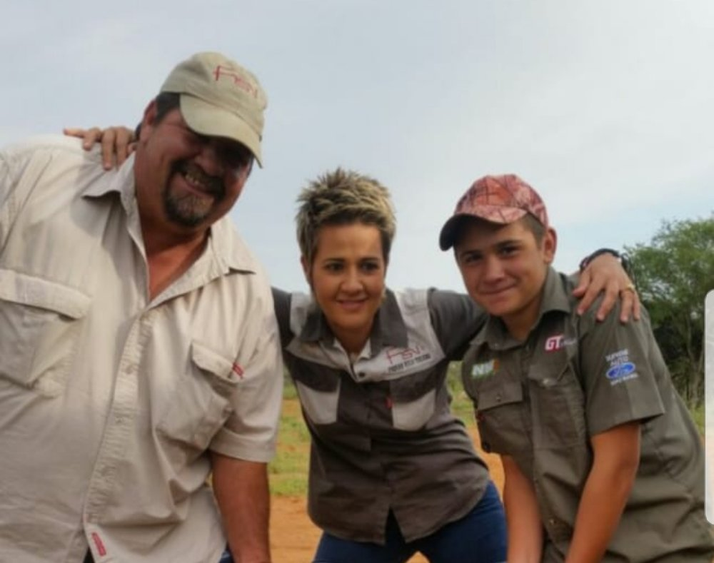Frits and Santie - Owners of Portions 81 to 88 Farm Skuinsdrift 75JP    Frits and Santie  grew up in the Skuinsdrift area in the North West Province. With their son Frits (15) they have established themselves as renowned crop farmers in the area, with products such as tobacco, soya beans, maize etc for the past 27 years.  In 2008 they introduced game farming to their already esteemed farming activities and over a period of 10 years they worked with various indigenous species such as Kudu, Wildebeest, Duiker, Zebra, Impala etc.   Read more