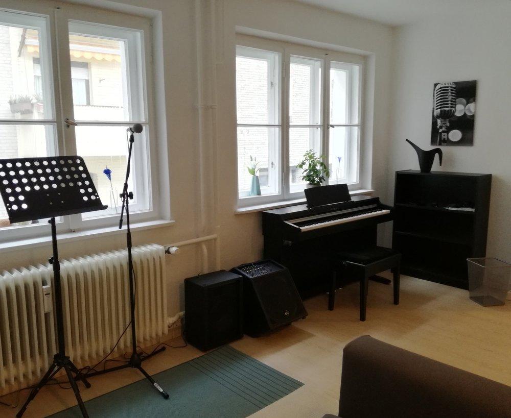 Räumlichkeiten des Gesangunterrichts