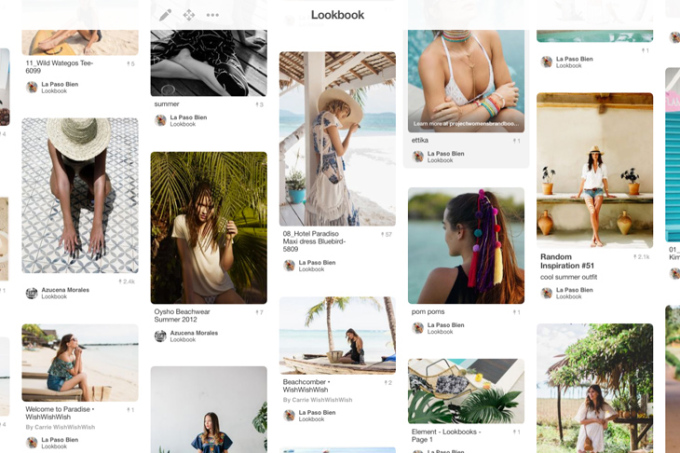 Pinterest board I make with my client to communicate the style of the lookbook.