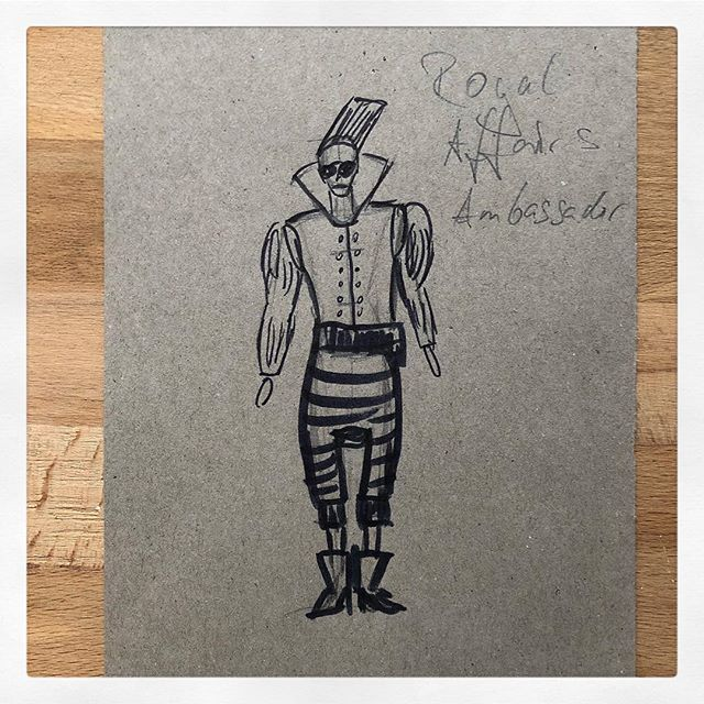Just came across this #sketch for the ambassador in a short #movie I did 2 years ago. #costumedesign #drawing #paper #sketching #clothesmaketheman #wild vimeo.com/262950204?ref=em-share
