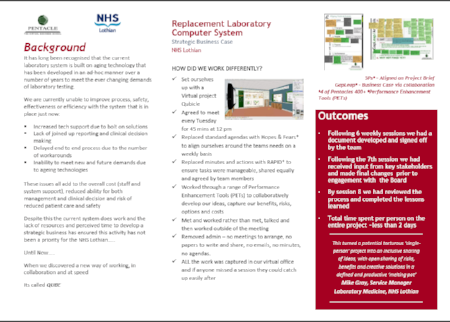 Case study developed by the NHS Lothian team
