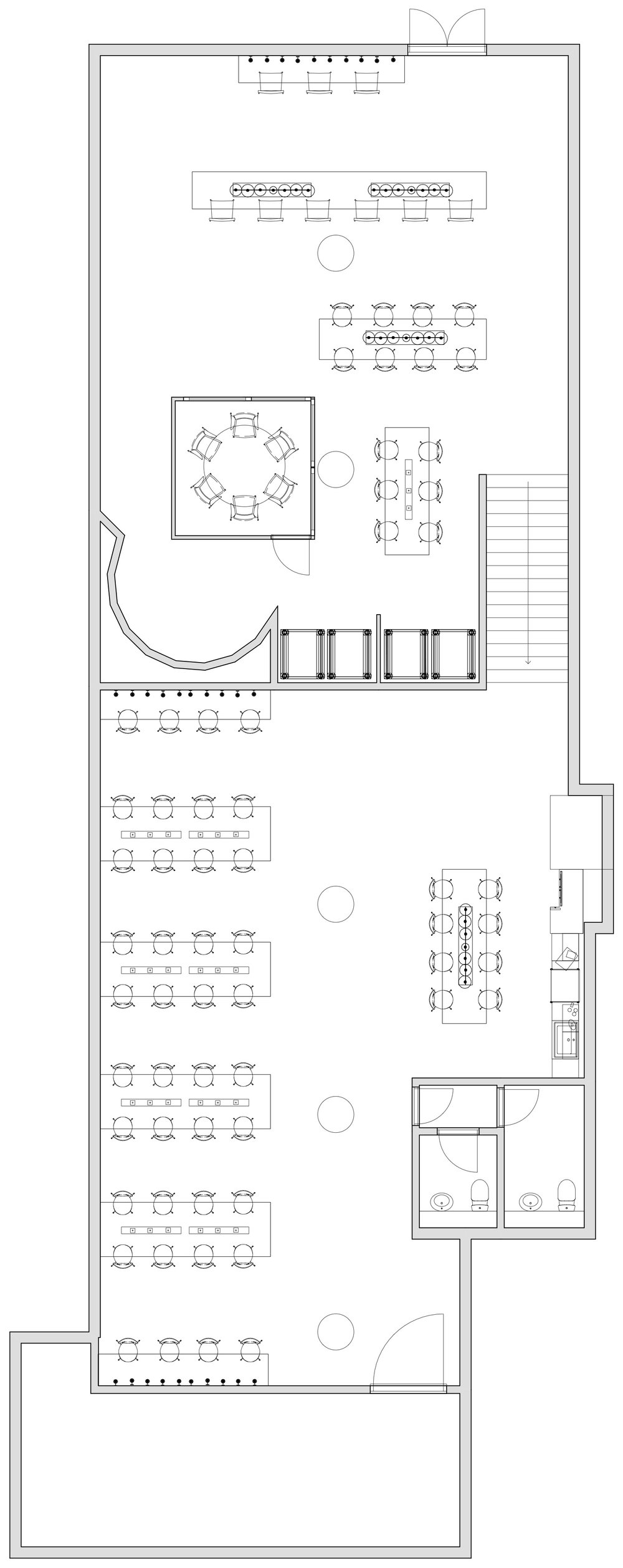 Interior design floor plan