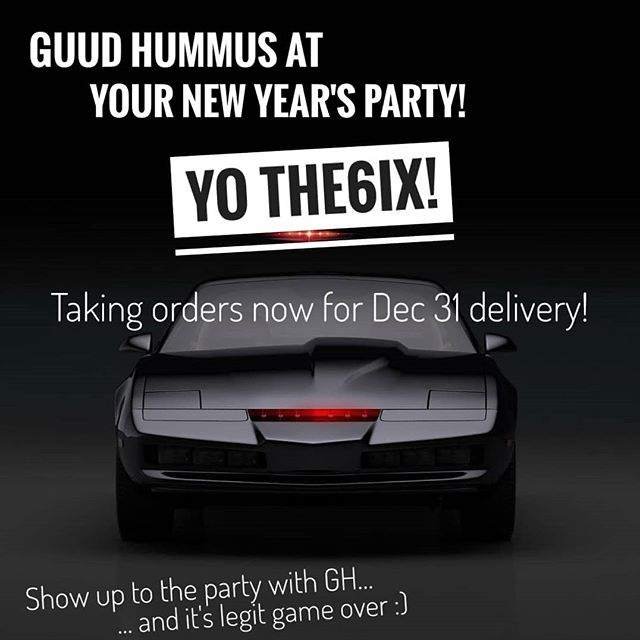 Heading to a house party tmr? Show up with some GH + win friends! :) Order today for delivery tmr Dec 31 3PM-8PM anywhere in Toronto. 🎉🎆✔️♥️😋 #the6 #torontolife #yyzlife  #torontofoodies  #veganeatstoronto #veganeats  #influencer