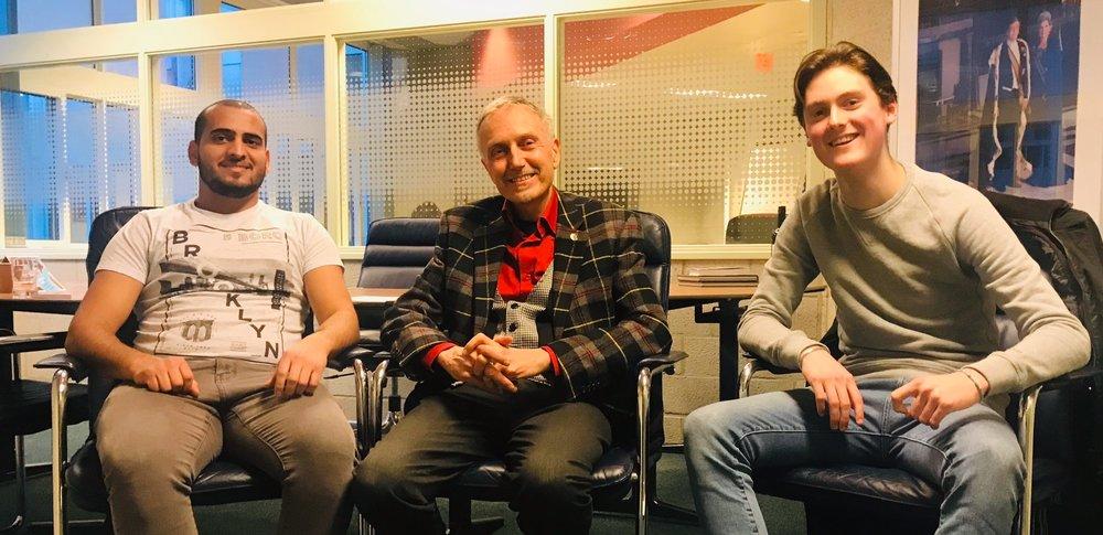 Mahmoud, Henk Smid en Ties