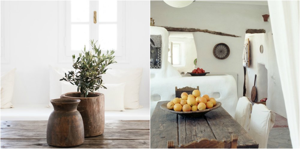 Wood is largely used in cycladic interiors.