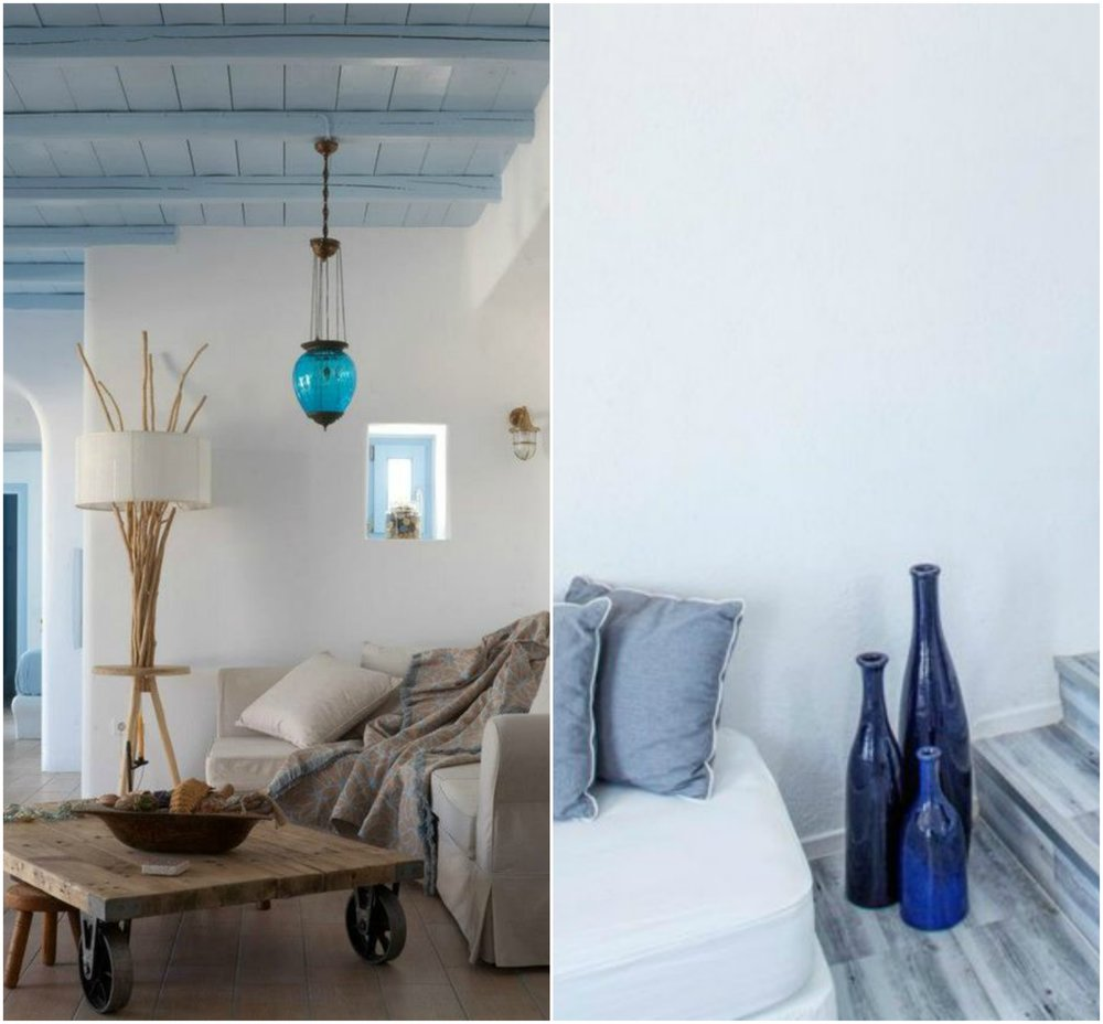 Blue glass reminds us of the sea so it 's a great fit for greek islands style homes.