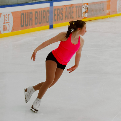 figure skater during practice