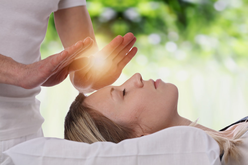"Reiki   is a Japanese technique for stress reduction and relaxation that also promotes healing. It is administered by ""laying on hands""  to relieve tension and promote better health"