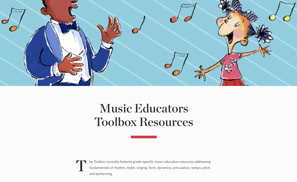 CARNEGIE HALL EDUCATOR RESOURCES    Learning Resources