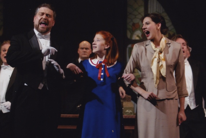 "Performing the role of ""Grace"" in a production of  Annie"