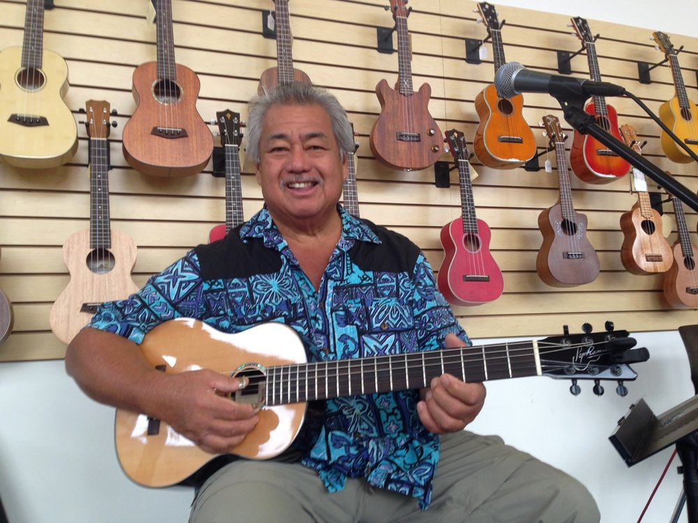 George Kahumoku, Jr. - with the Romero Creations Parlor guitar