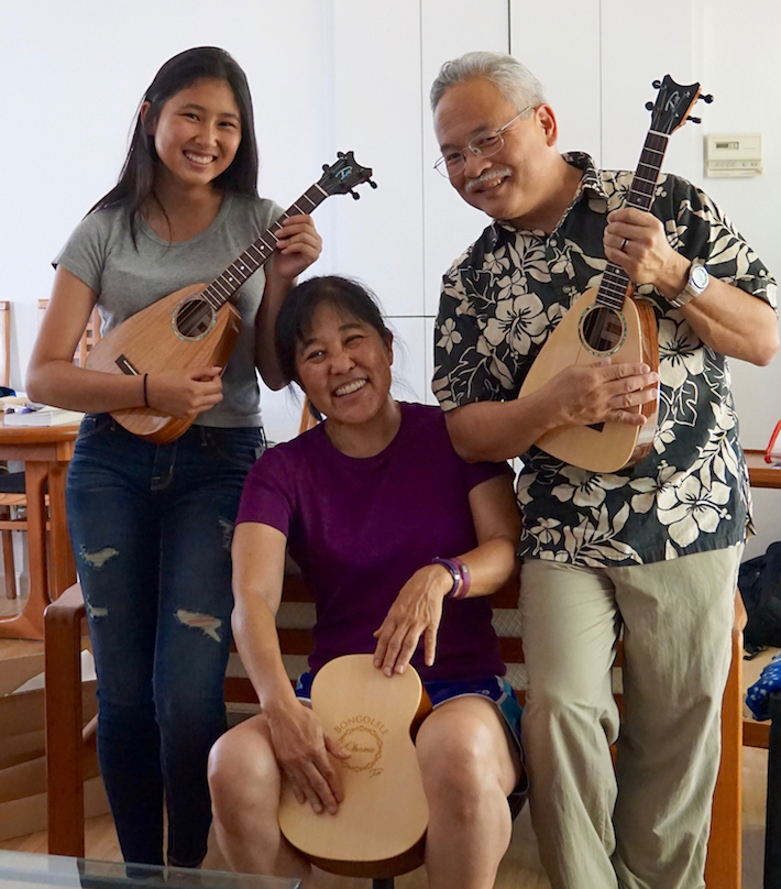 Steve Sano - L-R: KimiAnn Sano, Linda Uyechi, and Steve Sano
