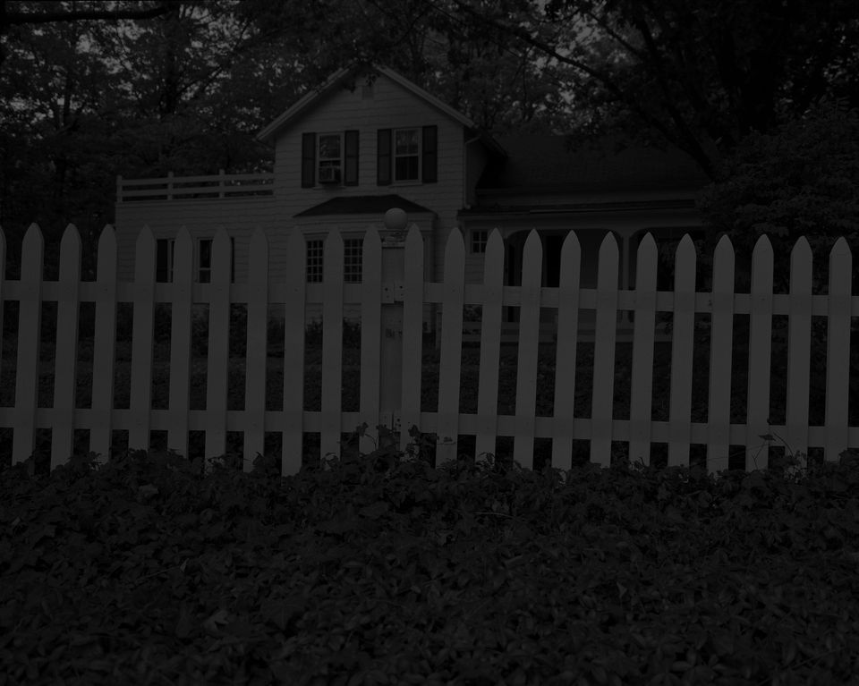 Dawoud Bey, Untitled #1 (Picket Fence and Farmhouse) from Night Coming Tenderly, 2017.