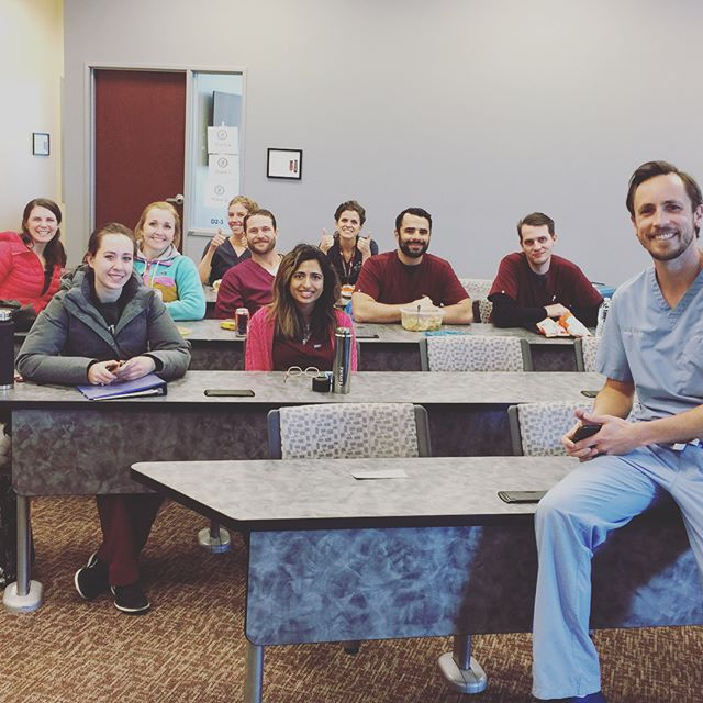 Thank you Dr.Davis for educating us about socket preservation. If you missed his lecture don't worry, He will be coming back to give part 3 of the lecture series on March22 at lunch! Don't forget to be there!!! #rosemanadea #socketpreservation #dentalstudents
