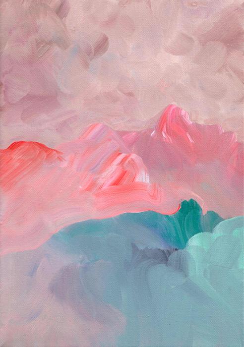 Landscape II, acrylic on canvas, 21 x 30 cm — SOLD