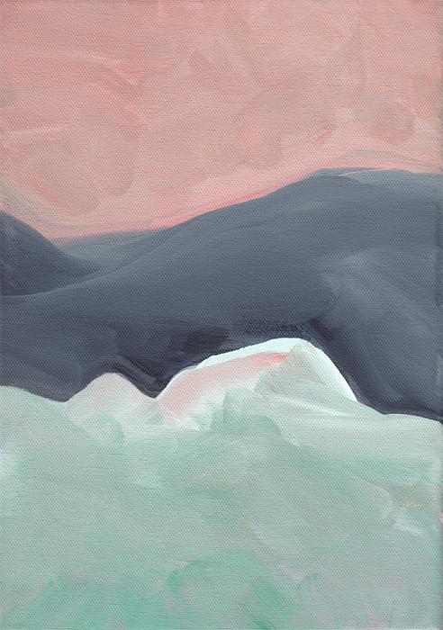 Landscape III, acrylic on canvas, 21 x 30 cm —   available