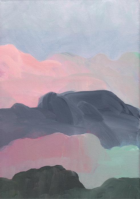 Landscape, IV, acrylic on canvas, 21 x 30 cm — SOLD
