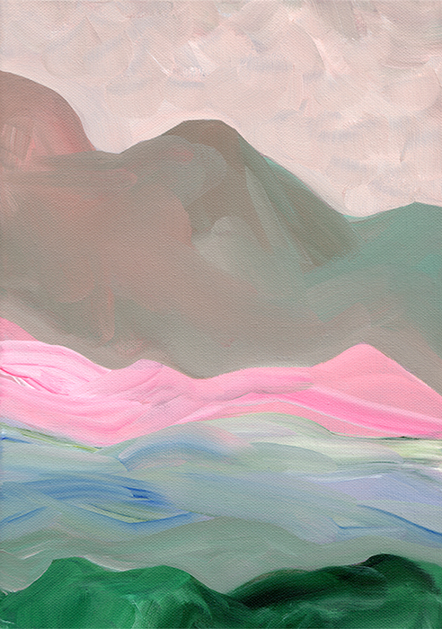 Landscape I, acrylic on canvas, 21 x 30 cm